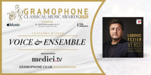 Ludovic Tézier receives the Gramophone Classical Music Award
